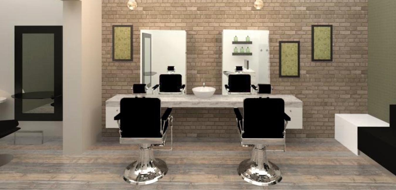 render parrucchiere Agnelli Red Design